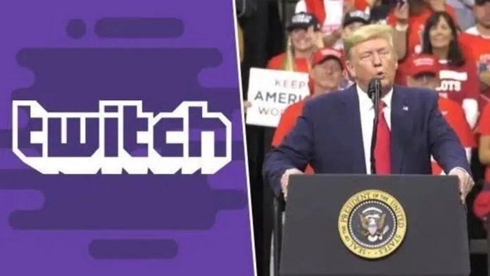 twitch elimina account Trump
