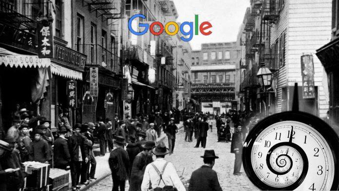 google viaggio nel tempo