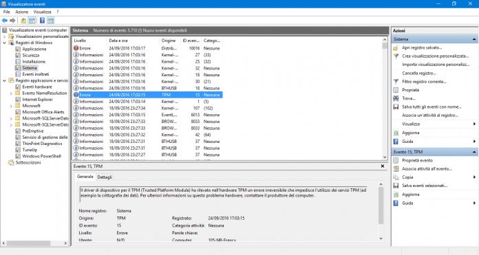 funzionalità registro windows