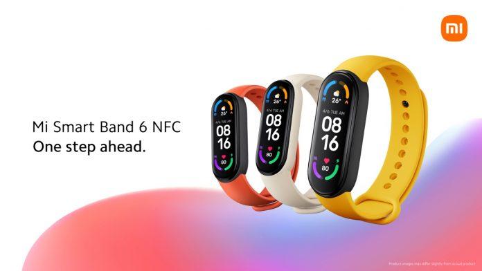Xiaomi Mi Smart Band 6 contactless